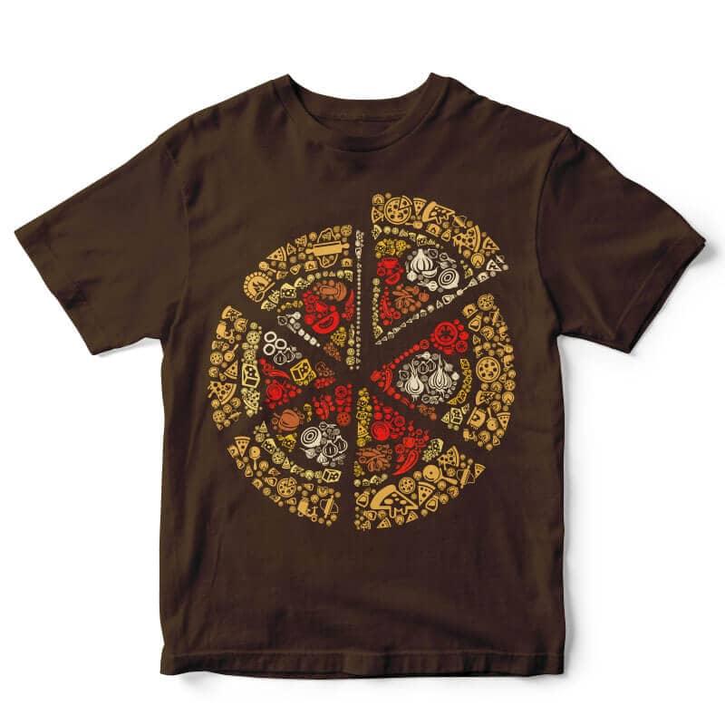 Pizza vector t-shirt design vector shirt designs
