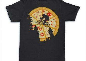 Pizza Moon Graphic tee design