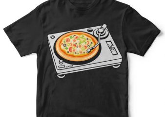 Pizza Scratch print ready shirt design