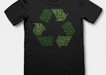 Recycling t-shirt design