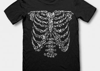 Ribcage Bird t shirt design