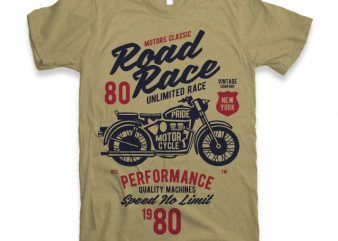 Road Race Motorcycles T-shirt design