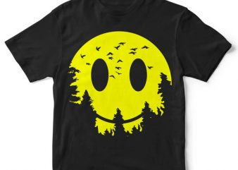 Smiley Moon t-shirt design