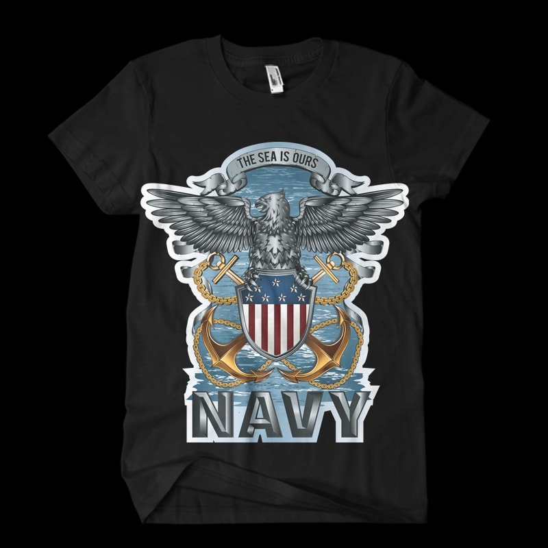 navy t-shirt designs for merch by amazon