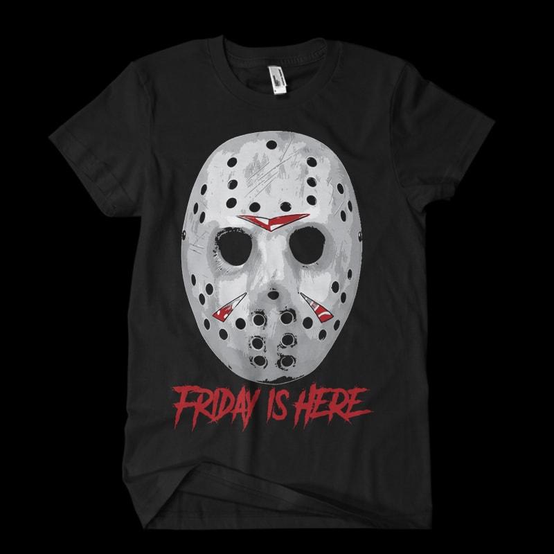 jason mask tshirt design for sale