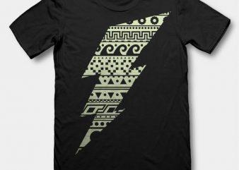 Thunderbolt t-shirt design