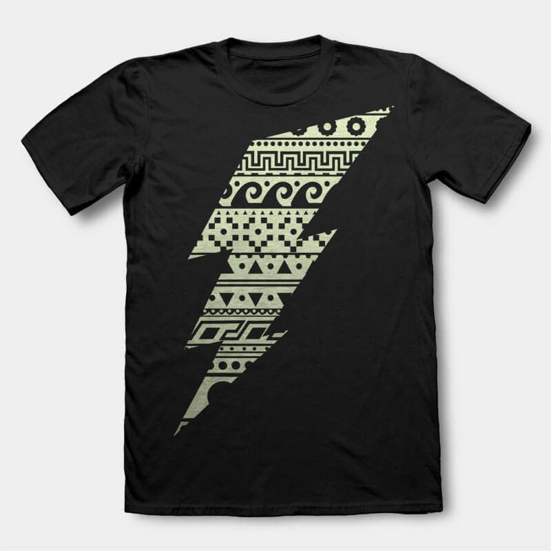 Thunderbolt t-shirt design t-shirt designs for merch by amazon