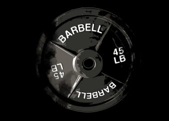 Powerlifting Barbell Plate t shirt illustration
