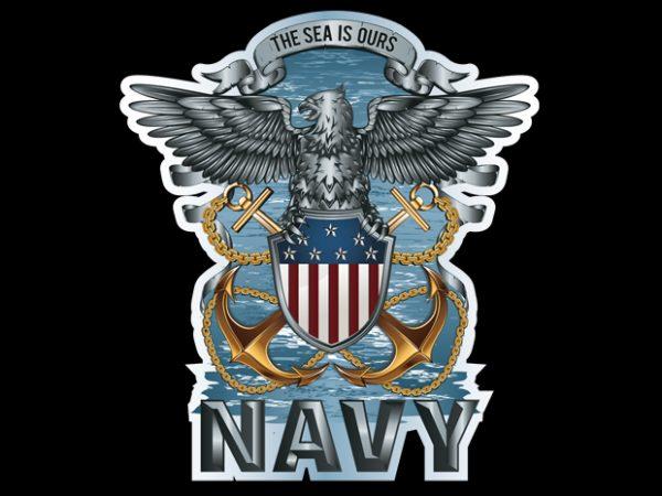 navy vector t-shirt design template