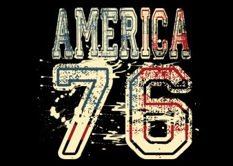 America 76 t shirt design for sale