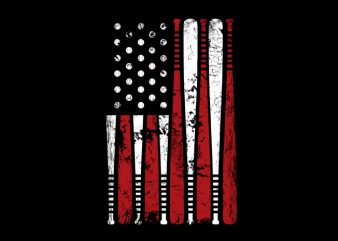 Usa Flag Basball tshirt design for sale
