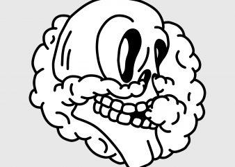 Smoking skull. Vector t-shirt design