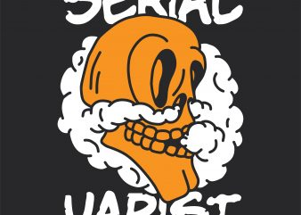 Serial vapist. Vector t-shirt design