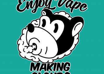Enjoy vape. Vector t-shirt design