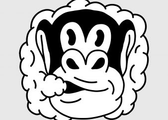 Smoking monkey. Vector t-shirt design