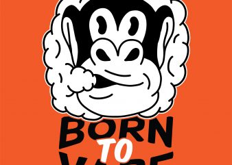 Born to vape. Vector t-shirt design