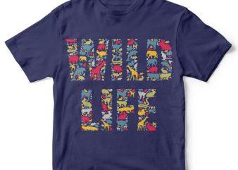 Wild Life tshirt design