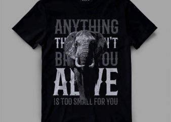 Elephant t-shirt design