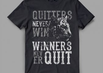Tiger Quitter Vector t-shirt design