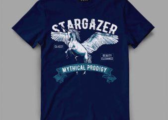 Pegasus Unicorn t-shirt design