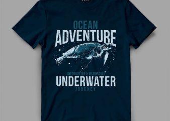 Turtle Journey T-shirt design
