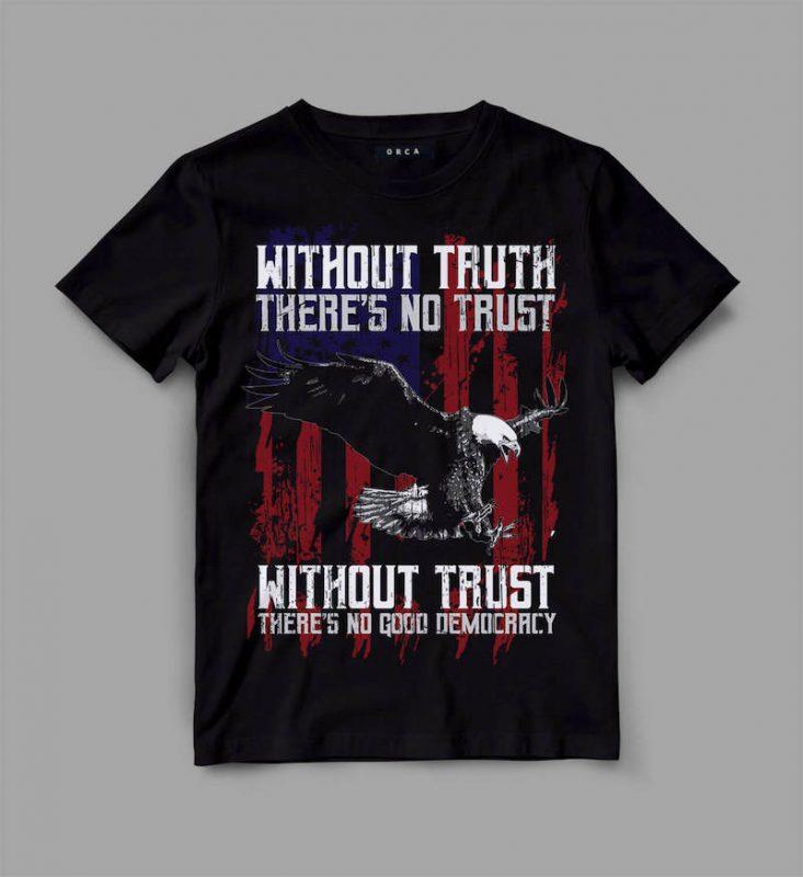 Eagle Democracy Graphic tee design vector shirt designs