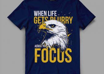 Eagle focus T-shirt design
