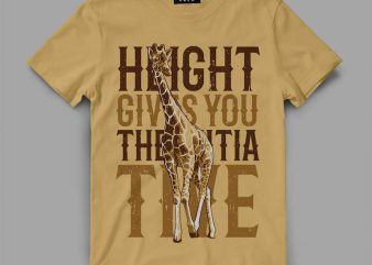 Giraffe Vector t-shirt design