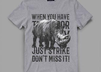 Rhino Strike t shirt design