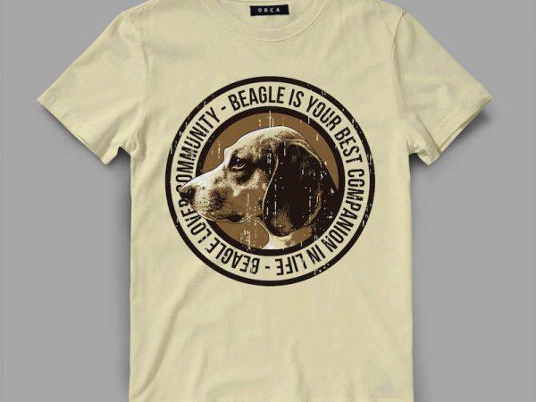 Dog Beagle T-shirt design