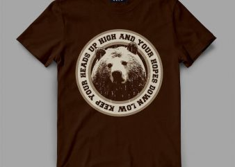 Bear Head Graphic tee design