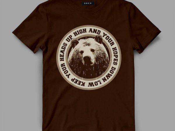 Bear Head Graphic tee design