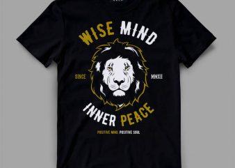 Lion wise shirt design