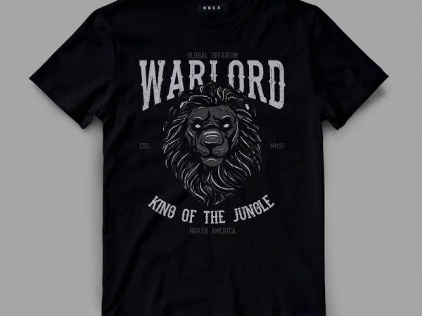 lion 2 warlord Graphic tee design