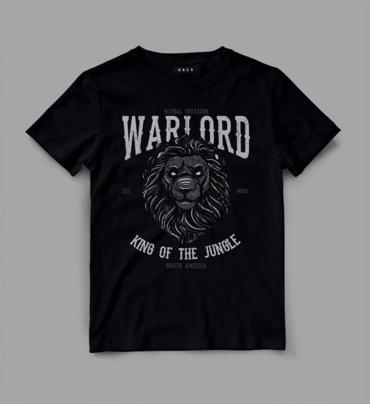 lion 2 warlord Graphic tee design t shirt designs for teespring