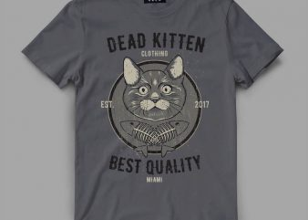 cat 1 deadkitten Graphic tee design