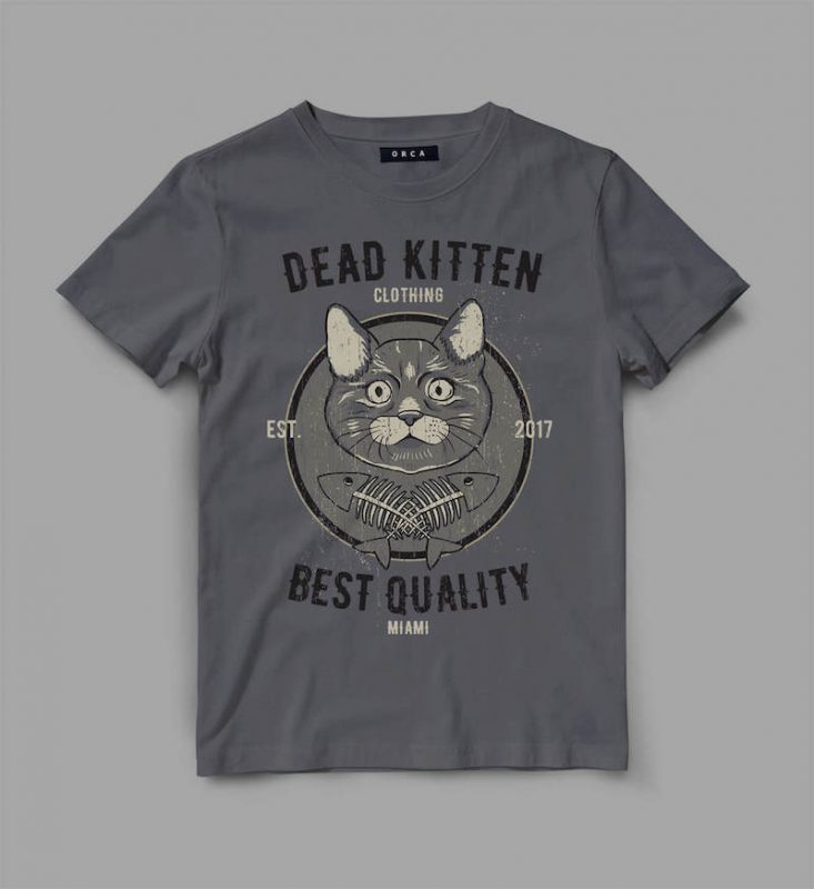 cat 1 deadkitten Graphic tee design t shirt designs for teespring