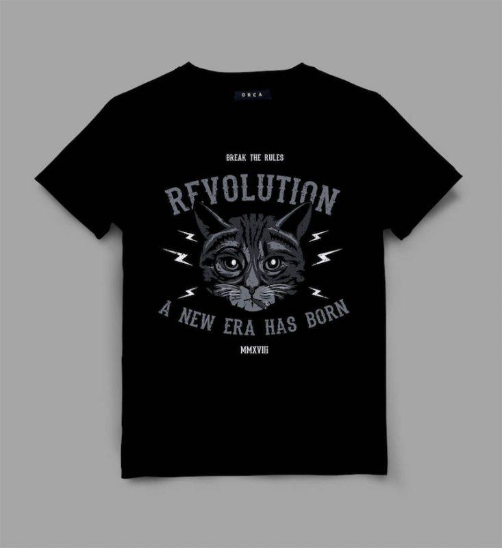 cat 2 revolt Graphic tee design t shirt designs for teespring