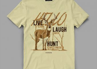 deer 3 livelaugh Graphic tee design