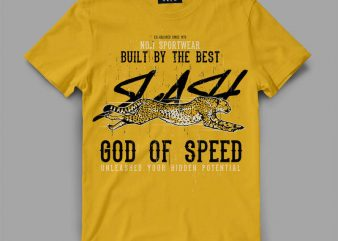 cheetah 1 slash Graphic tee design