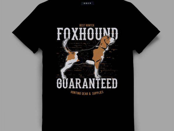 dog 4 foxhound Graphic tee design