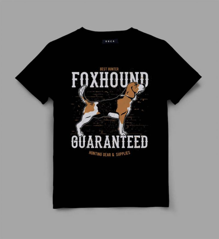 dog 4 foxhound Graphic tee design buy tshirt design