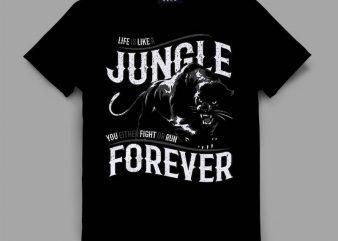 panther 2 jungle Vector t-shirt design