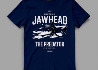 shark 2 jawhead Vector t-shirt design