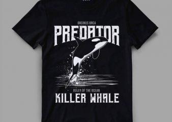 orca 1 predator Vector t-shirt design
