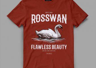 swan beauty Vector t-shirt design