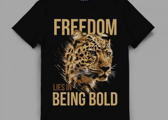 leopard bold Vector t-shirt design