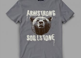 bear 4 strong Vector t-shirt design