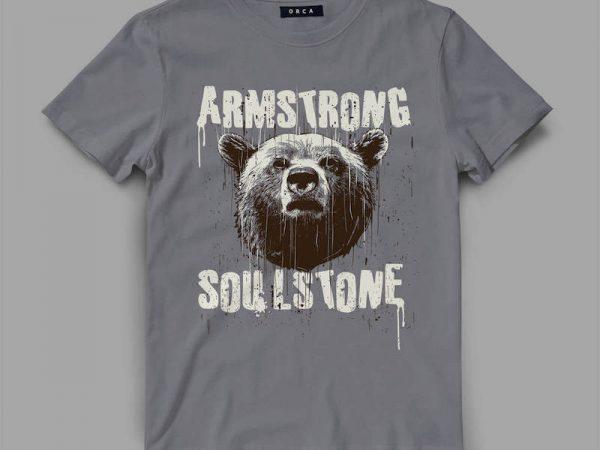 bear 4 strong Vector t-shirt design