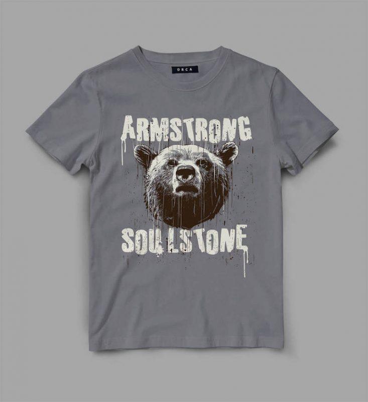 bear 4 strong Vector t-shirt design buy t shirt designs artwork